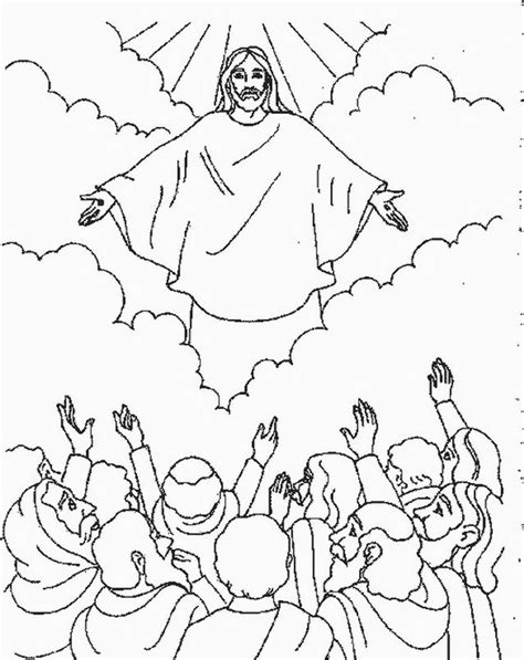 bible coloring pages jesus ascension 25 best ideas about ascension of jesus on