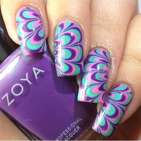water marble nail art tutorial in hindi lacquerheads of oz