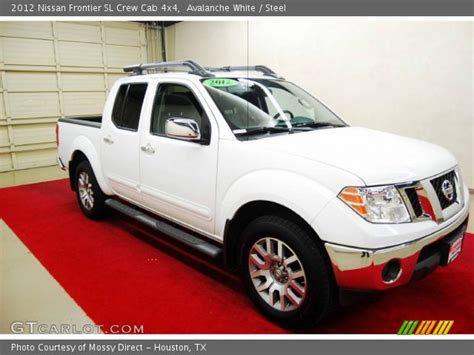 2012 nissan frontier crew cab sl for sale 20 used cars from 16 423 avalanche white 2012 nissan frontier sl crew cab 4x4 steel interior gtcarlot com vehicle