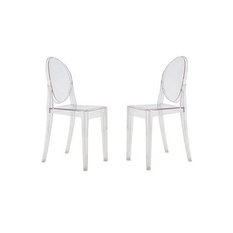 Victoria Ghost Side Chair Set Of 2 Dining Chairs Ghost Chair Dining Set