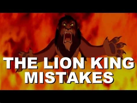 film lion king youtube disney the lion king movie mistakes you missed the lion