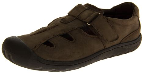 closed toe sandals mens mens shoreside leather closed toe sports sandals womens