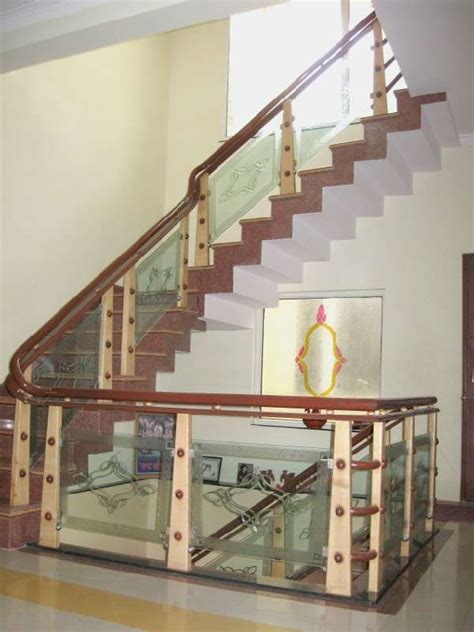 Wood Glass Stairs Design Wooden Staircase With Glass Design Www Imgkid The Image Kid Has It
