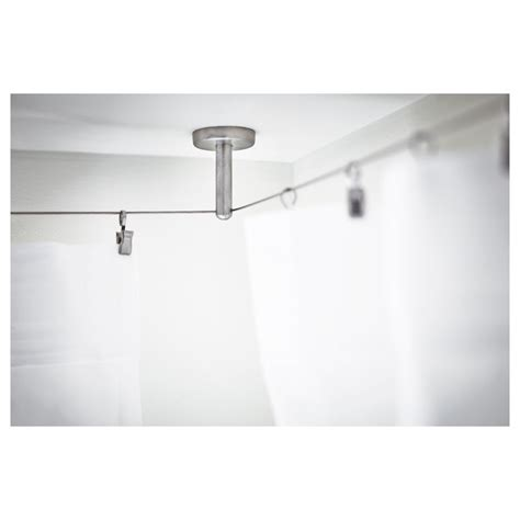 ikea wire curtain dignitet support corner fitting stainless steel ikea