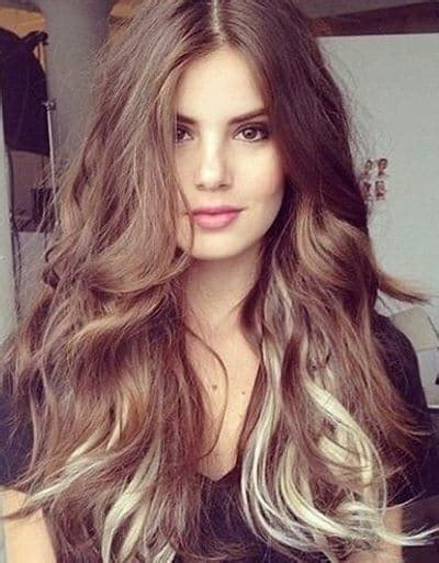 photos brown hair with blpnde ends dark brown hair with blonde ends brown hairs