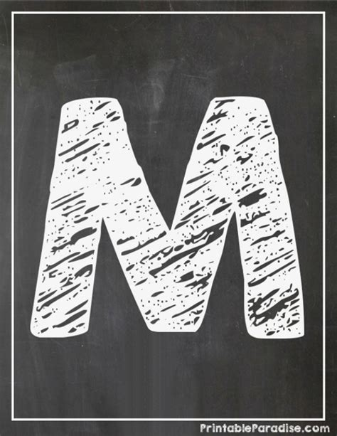 printable chalkboard letters printable letter m chalkboard writing print chalky letter m