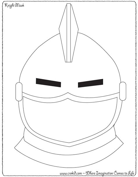 knight helmet coloring page creative kids knights and castles theme castle pinterest