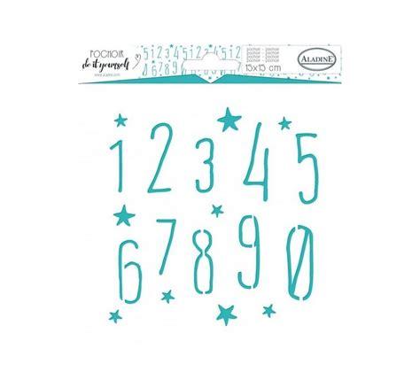numero cuadrado stencil cuadrado formas numeros de 15 x 15 cm la pecera rosa