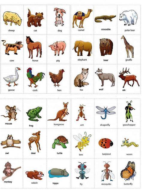 bahasa korea cua lista de animales en ingles