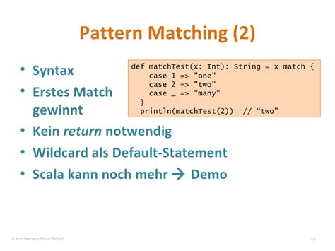 pattern matching scala string einf 252 hrung in scala im vergleich mit java