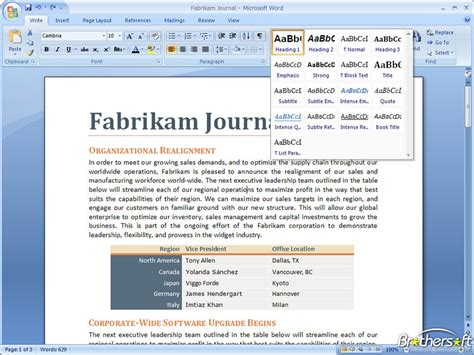 free microsoft office 2007 for windows 7