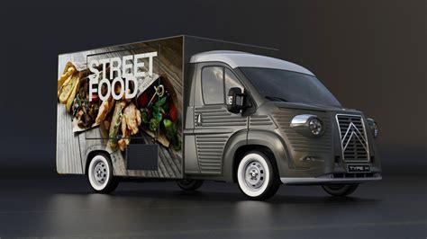 modern food truck design italian company unveils modern day citroen h van carscoops