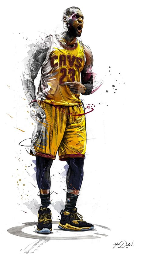 my work of painting and illustrations for the brand enterbay and the nba hh nba