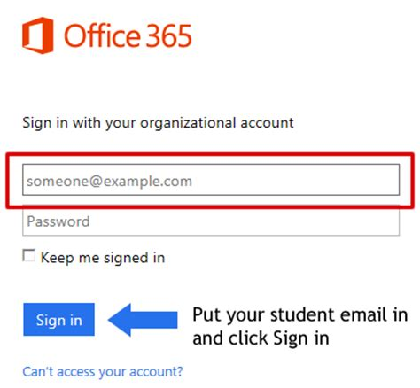 Office 365 Sign In With Your Organizational Account by Student Resources Office 365