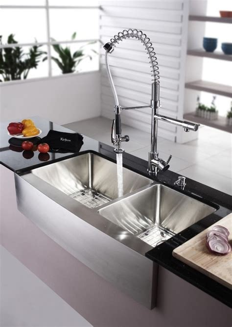 stainless steel farmhouse apron sinks