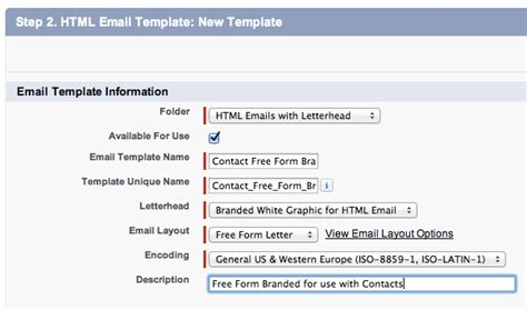 email layout salesforce create a salesforce html email template with merge fields