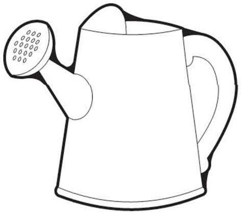 coloring page watering can watering can colouring clipart best