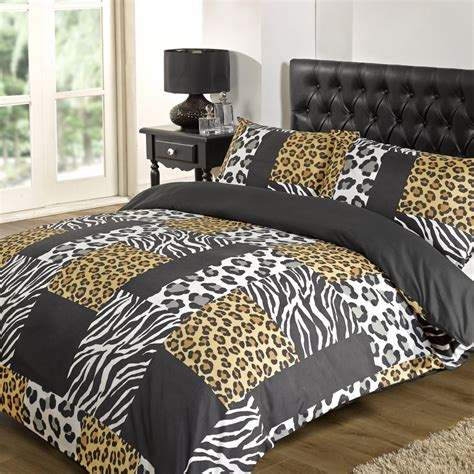 Black And White Quilt Cover Sets by Kruger Zebra Leopard Black White Animal Print Duvet Quilt