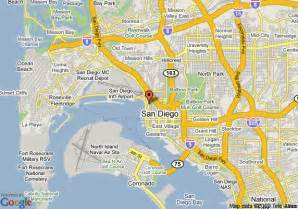 Google Map San Diego by Map Of San Diego Days Inn Harbor View Airport