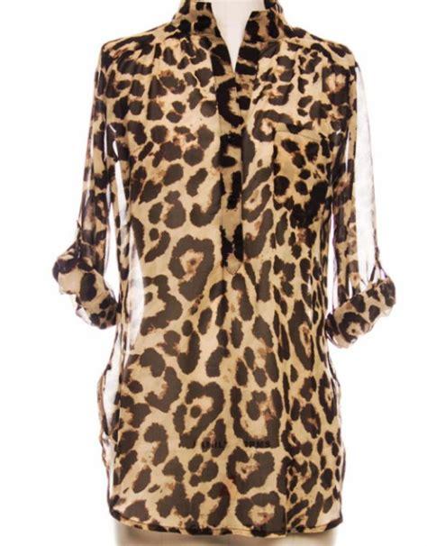 41hawthorn Animal Print Blouse by Leopard Print Blouse Leopard Print