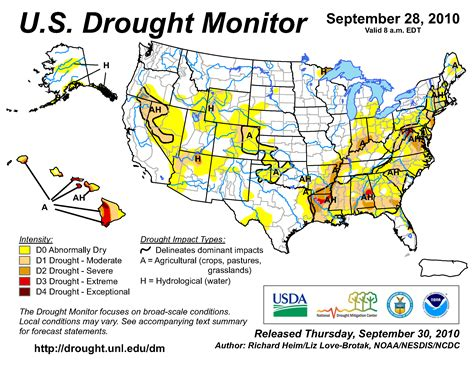 louisiana drought map wildfires september 2010 state of the climate