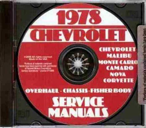 how to download repair manuals 1978 chevrolet corvette parental controls 1978 chevrolet factory repair shop service manual includes impala caprice classic chevelle