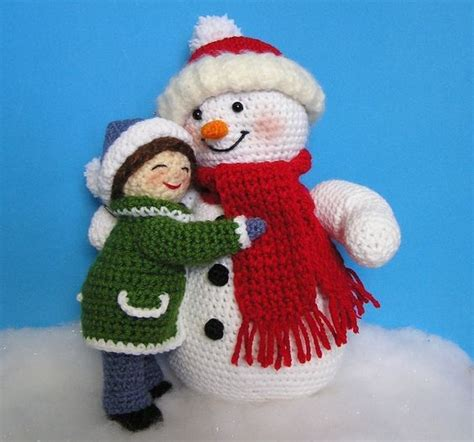 amigurumi snowman pattern free girl and snowman pdf crochet patterns amigurumi