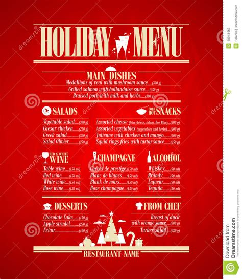 Restaurant Menu Design Template In Newspaper Style Cartoon Vector Cartoondealer Com 41056963 Newspaper Menu Template