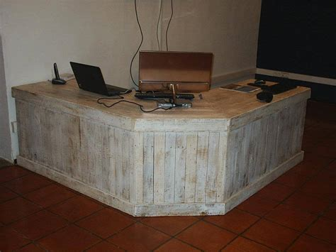 diy rustic computer desk pallet reception desk and a table 101 pallets