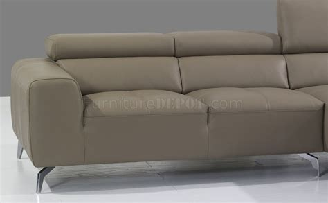A978b Sectional Sofa In Burlywood Premium Leather By J M Premium Leather Sofas