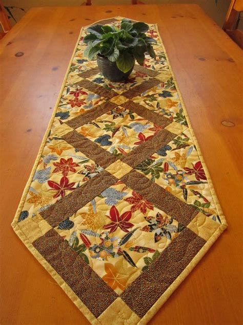 leaf pattern table runner quilted table runner maple leaves fall table runner