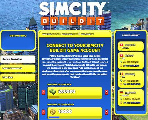 simcity buildit hack unlimited simcash simoleons simcity buildit hack generator simcash simoleons