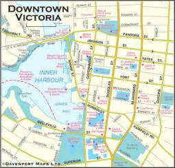 Victoria Canada Map by British Columbia Maps Downtown Victoria Bc Map Driving