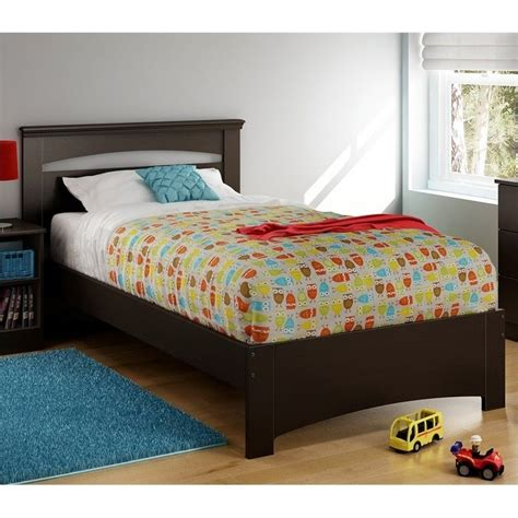 south shore twin bed south shore libra 39 twin bed in chocolate 3859189