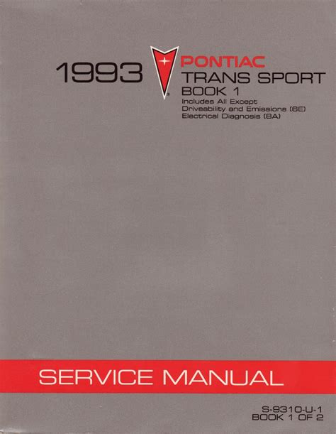 service repair manual free download 1993 pontiac trans sport seat position control 1993 pontiac trans sport factory service manual