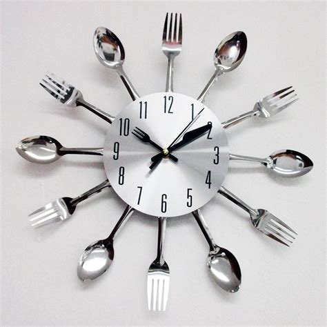 kitchen utensil design modern design silver cutlery kitchen utensil clock spoon