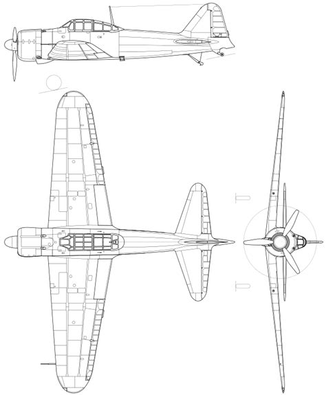 Drawing M Ei Diagram by File Mitsubishi A6m Zero Drawing Svg Wikimedia Commons