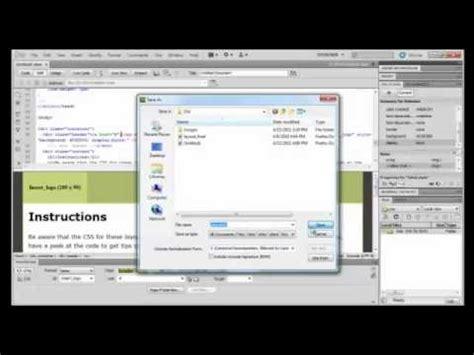 tutorial to create a website in dreamweaver dreamweaver tutorial how to create a website in adobe