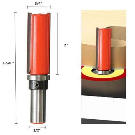 pattern making router bits 1 2 inch straight shank router bit 3 4 inch pattern trim