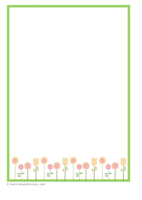 lined paper with spring border liberty flower border paper free teaching resources