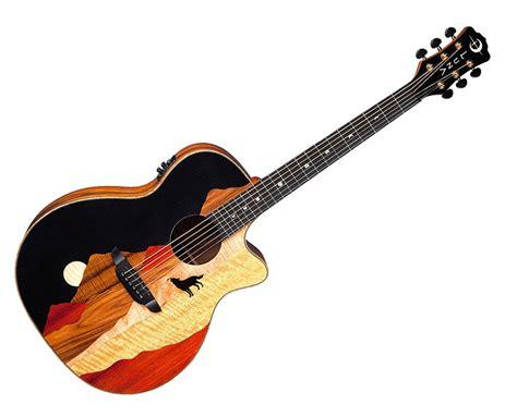coco guitar luna vista wolf acoustic guitar tropical wood coco back