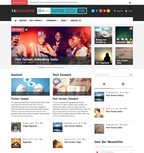 themes download cm 50 free bootstrap based wordpress themes 2017