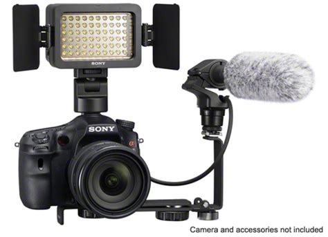 sony hvl le1 handycam camcorder light features