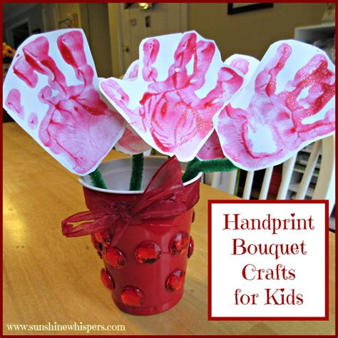handprint crafts for handprint bouquet crafts for