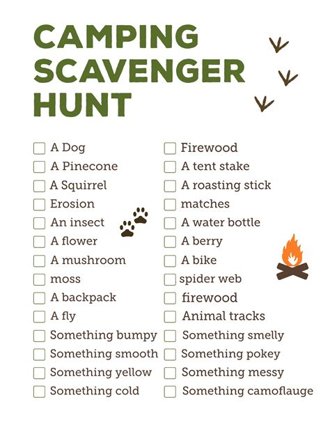 On The Hunt For by Cing Scavenger Hunt Printable Paper Trail Design