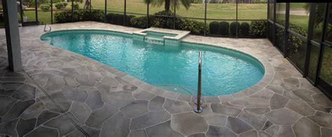 concrete designs florida flagstone pool deck