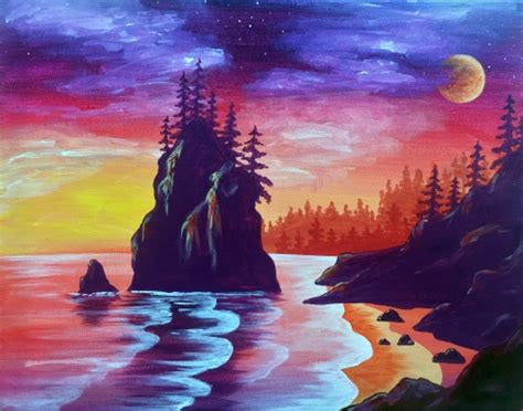 paint nite vancouver island paint nite fundraiser sold out alberni aquarium and