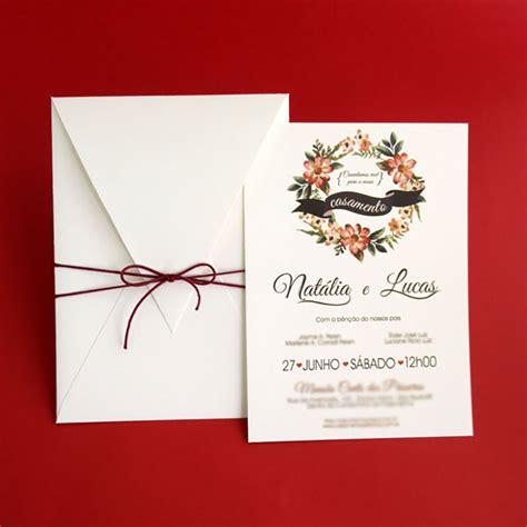 convite de casamento flores em aquarela convites de casamento presence aquarela papel e estilo