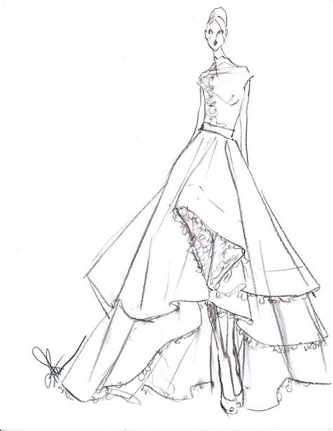 Sketches A 2 by Gown Dress Pencil And In Color Gown