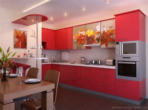 red kitchen decorating ideas pictures of kitchens modern red kitchen cabinets